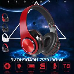 Wireless 3.5mm Gaming Headset LED Headphones Stereo Surround