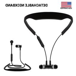 Wireless Bluetooth Earphones Sport Headphones Neckband With