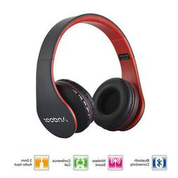 Andoer Wireless Bluetooth Foldable Headsets Headphones with