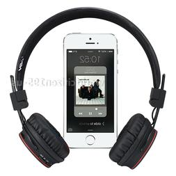 Wireless Bluetooth Headphones Bass Fm Radio Over-ear Handsfr