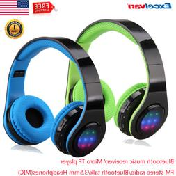 Wireless Bluetooth Headphones Folding Stereo Earphones Super