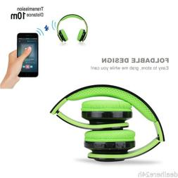 Wireless Bluetooth Headset Over-the-Ear Earphone Headphone f