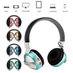 Wireless Bluetooth Headset Over The Ear Stereo Headphone Wit