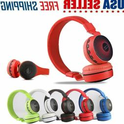Wireless Bluetooth Kids Over-Ear LED Headphones Earphones fo