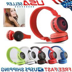 Wireless Bluetooth Over Ear Kids Adults Foldable Headphones