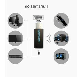 Wireless Bluetooth Transmitter USB AUX Jack for Phone PC TV