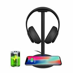 Wireless Charging with Headphone Stand New Bee Sturdy 2-in-1