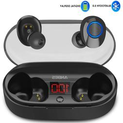 Wireless Earbuds, ANBES Bluetooth Headphones 5.0 LED Display