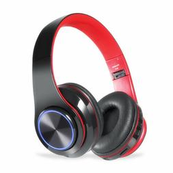 Wireless Gaming Headset LED Headphones Stereo Bass Foldable