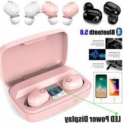 Wireless Headphones Bluetooth Headsets Earbuds+Charging Bank