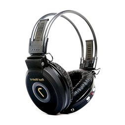 Onn Wireless Over-Ear Headphones, Black