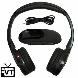 Wireless TV Headphones  Hearing Aid - RF FM Stereo, 3.5mm Ja